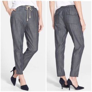 The Fisher Project Slouchy Chambray Ankle Pants